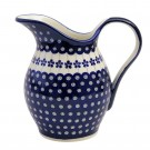 Pottery Avenue 59-oz Stoneware Water Pitcher-Vase -1160-166A Flowering Peacock