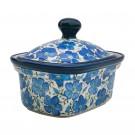 Pottery Avenue 6-inch Stoneware Butter Box/Mini Baker - 1188-352AR BLUE HARMONY