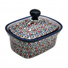 Pottery Avenue 6-inch Stoneware Butter Box/Mini Baker - 1188-DU221 COLOR ME LOVE