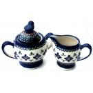 Pottery Avenue 2-Piece Stoneware Creamer & Sugar Set -1234-1235-DU60 Sweetie Pie