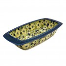 "Pottery Avenue Blue Citrine 17"" Rectangular Stoneware Baker 