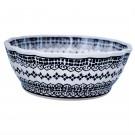 Pottery Avenue Scalloped Stoneware Serving Bowl - 1278-1092 BLACK DIAMOND
