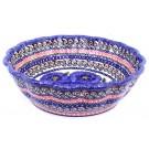 Pottery Avenue BLUE PANSY Scalloped Stoneware Serving Bowls | UNIKAT