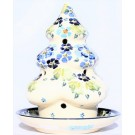 Pottery Avenue TRUE BLUES Christmas Tree Candle Holder | ARTISAN