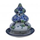 Pottery Avenue Designer 2-pc Candle Stoneware Holder - 1289-DU207 Trues Blues