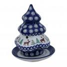 Pottery Avenue Designer 2-pc Candle Stoneware Holder - 1289-992A Caribou Lodge