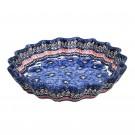Pottery Avenue 10-inch Stoneware Quiche/Pie Dish - 1331-148AR BLUE PANSY