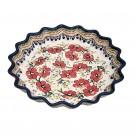 Pottery Avenue 10-inch Stoneware Quiche/Pie Dish - 1331-252EX LOVE BLOSSOMS