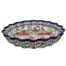 """Pottery Avenue Bellissima 13"""" Stoneware Pie-Quiche Stoneware Dish"""