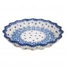 """Pottery Avenue 13"""" Stoneware Quiche-Pie Dish - 1332-DU233 MOD FLORAL"""