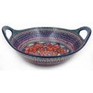 "Pottery Avenue Cherished Friends 13"" Handled Stoneware Baker | Serving Bowl"