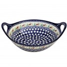 Pottery Avenue 13-inch Stoneware Handled Baking-Serving Bowl - 1347-992A Caribou Lodge