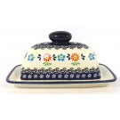 Polish Pottery Covered Butter Dish | HERITAGE