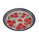 "Pottery Avenue 13"" Large Round Stoneware Platter - 1378-257EX Bellissima"