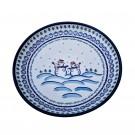 Pottery Avenue 13-inch Stoneware Round Platter (LG) - 1378-DU69 FROSTY & FRIENDS