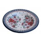"Polish Pottery EMPRESS 9.5"" Soup-Pasta-Salad Stoneware Plate | UNIKAT"