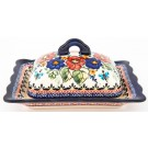Pottery Avenue BUTTERFLY MERRYMAKING Covered Butter Dish | UNIKAT