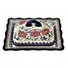 Pottery Avenue Fancy Stoneware Butter Dish - 1568-252EX Love Blossoms