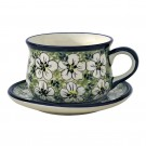 Pottery Avenue 6.7-oz Stoneware Cup & Saucer Set - 1595-1596-328AR Bacopa