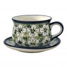 Pottery Avenue 6.7-oz Stoneware Cup & Saucer Set - 1595-1596-328AR Bacopa