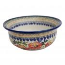 Pottery Avenue UNIKAT Flared Stoneware Bowl - 1604-252EX Love Blossoms
