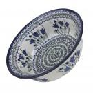Pottery Avenue  17-oz Flared Top Stoneware Bowl - 1604-160AR Blue Tulip