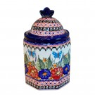 """4.22 Cup Imperial Canister 4.4 x 7.67"""" Tall BUTTERFLY MERRY MAKING"""