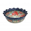 Pottery Avenue Stoneware Round Fancy Rimmed Pie Dish (SM) | 1763-296AR CHAMPAGNE