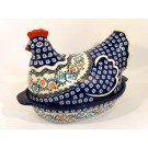Polish Pottery 1.5L HERITAGE HOME Hen baked casserole | CLASSIC