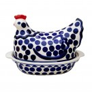 Pottery Avenue 1.5L Polka Hen Covered Casserole