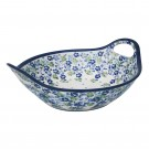 "Pottery Avenue True Blues 10"" Handled Stoneware Bowl - 1813-DU207 True Blues"