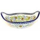 """Pottery Avenue 10"""" PINECONE Stoneware Bowl With Handle   ARTISAN"""