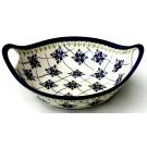 "Pottery Avenue 10"" Stoneware Handled Bowl-Baker - 813-DU48 Sweetheart"