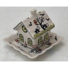 Pottery Avenue Spider and Spook House for votive or tea light - 1847-DU125 Spiders N Spooks