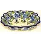 "Pottery Avenue 9.6"" TRUE BLUES Fancy Rimmed Soup Bowls | ARTISAN"