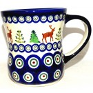 Polish POttery CARRIBOU LODGE 12-oz Stoneware Coffee Mug | CLASSIC