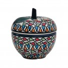 Pottery Avenue 4-inch Tall Stoneware Apple Canister - 1899-DU221 Color Me Love