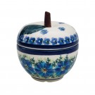 Pottery Avenue 4-inch Tall Stoneware Apple Canister - 1899-DU233 MOD FLORAL