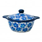 Pottery Avenue Stoneware Covered Rnd Casserole 54-oz (LG) 1928-352AR Blue Harmony