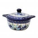 Pottery Avenue Stoneware Covered Cascerole (MD) - 1927-DU177 Blue Rose
