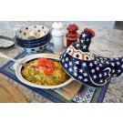 "Polish Pottery 10"" Hen Covered Casserole Dish 