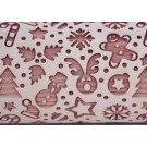 """Pottery Avenue 4.5"""" Embossing Rollilng Pin Patter - SEP-221 SANTA'S DELIGHT"""