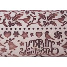 """Pottery Avenue and Wooden Corner brings you these wonderful 4.5"""" embossing rolling pins - SEP-223 HOLIDAY HOLLY"""