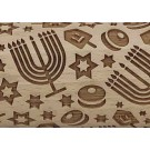 """Pottery Avenue and Wooden Corner brings you these wonderful 4.5"""" embossing rolling pins - SEP-303 MAZELTOV"""