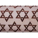 """Pottery Avenue 10"""" Embossing Rolling Pin STAR OF DAVID - LEP-304"""