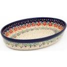 Pottery Avenue 11-inch Stoneware Oval Baker - 349-262AR Flowering Splendor