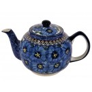 Pottery Avenue 34oz Stoneware Tea For Two - 596-148AR Blue Pansy