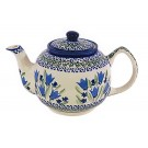 Pottery Avenue Blue Tulip Stoneware Tea For Two