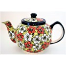 Pottery Avenue RED BACOPA 4-5 Cup Teapot   UNIKAT