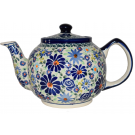 Pottery Avenue 34oz Stoneware Teapot - 596-DU126 4TH OF JULY